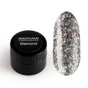 MONAMI, Гель-лак Diamond Milky Way (платиновый, 5 гр)